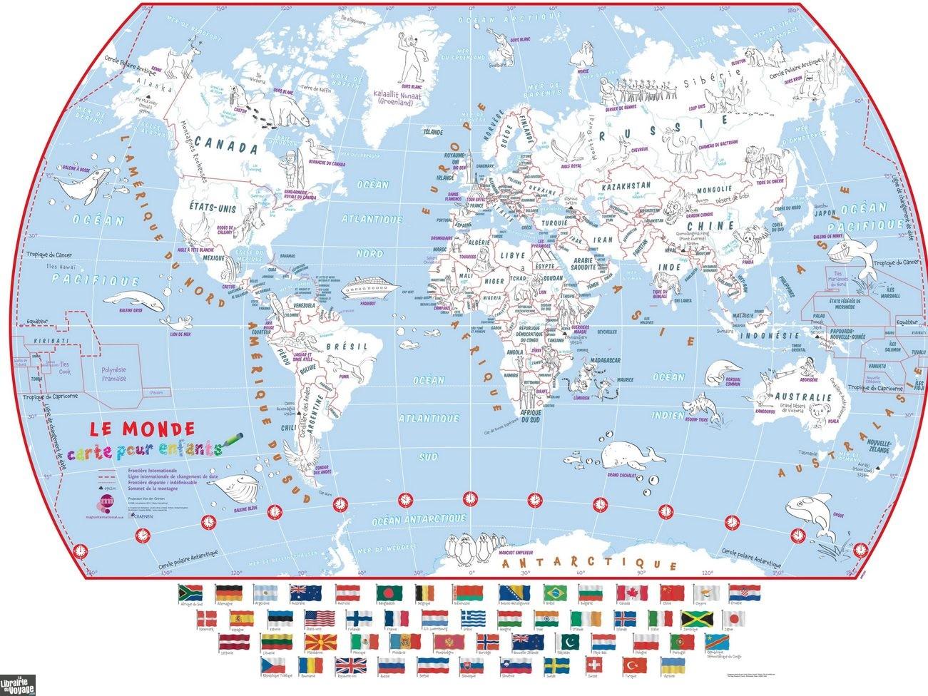 Maps International - La Carte Du Monde Pour Enfants À Colorier à Carte De France Pour Enfant