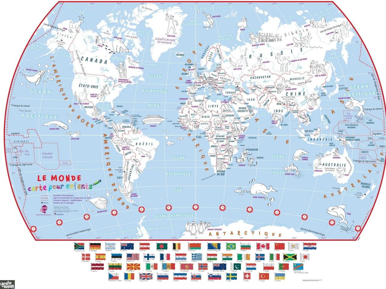 Maps International - La Carte Du Monde Pour Enfants À Colorier encequiconcerne Carte Du Monde Enfant