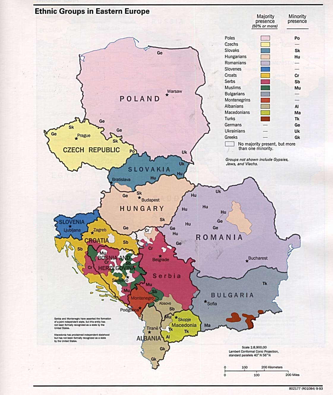 Maps Of Ethnic Groups In Eastern Europe 1993 - Mapa.owje pour Carte Europe De L Est
