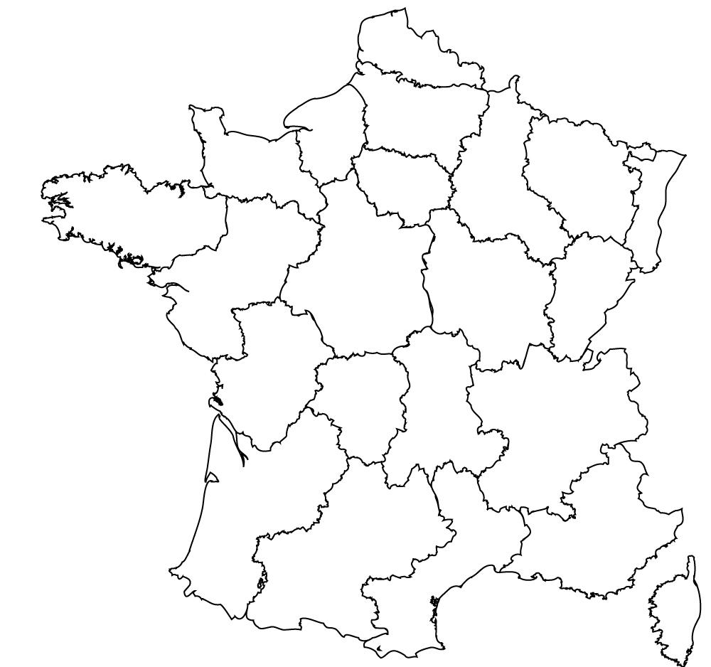 Maps Of The Regions Of France à Liste Region De France