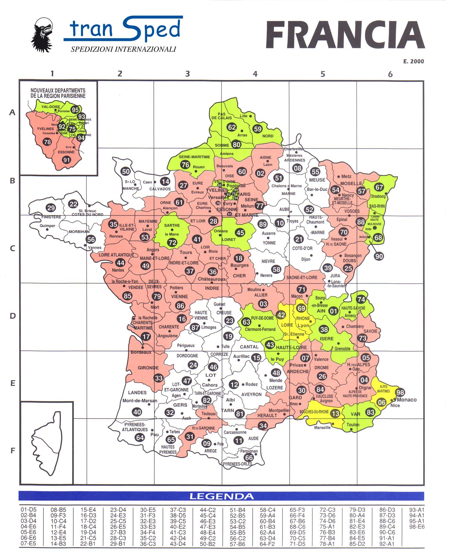 Maps pour Mappe De France