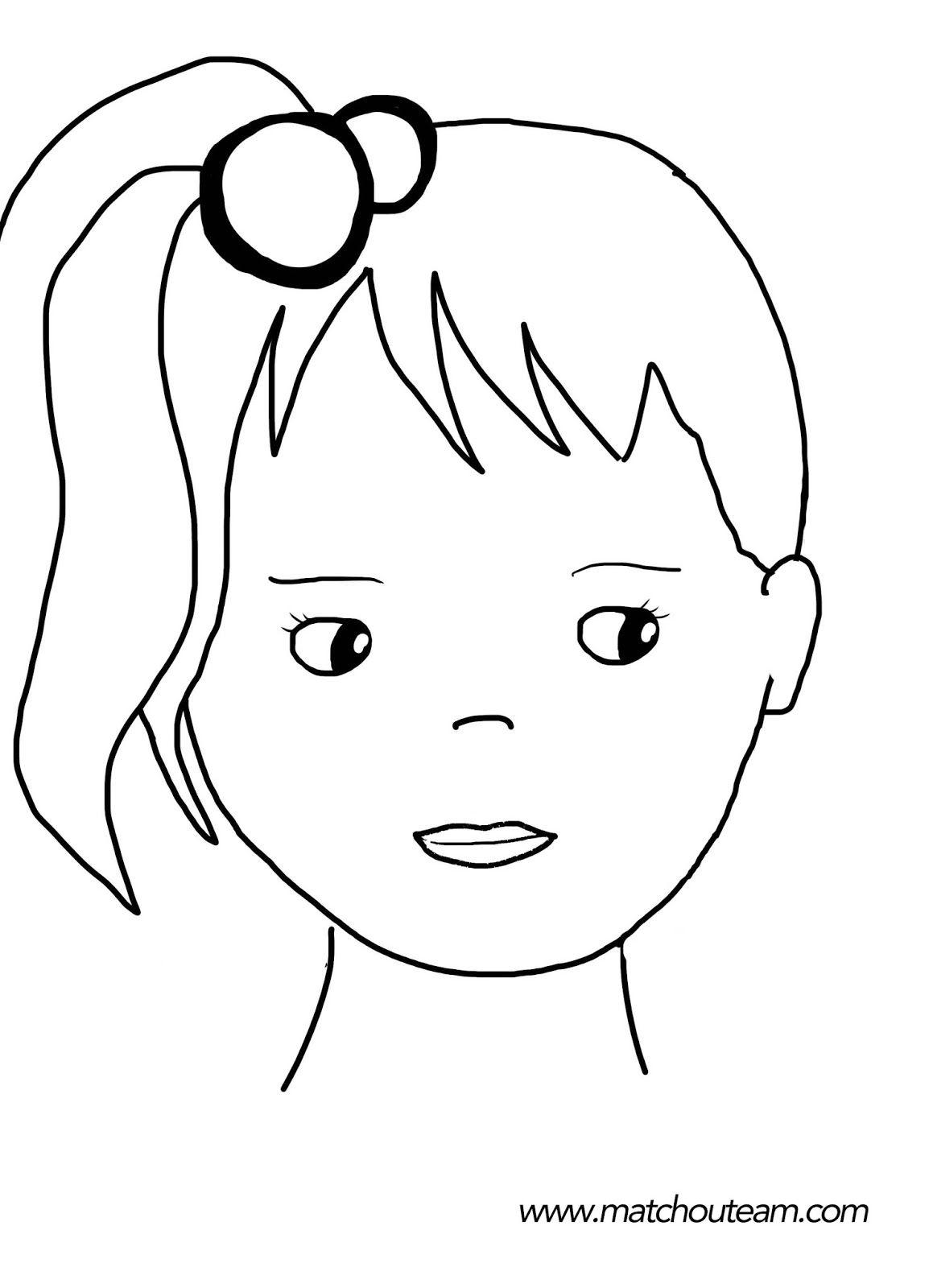Maquillage Enfants Inspirations | Dessin Visage pour Visage À Colorier