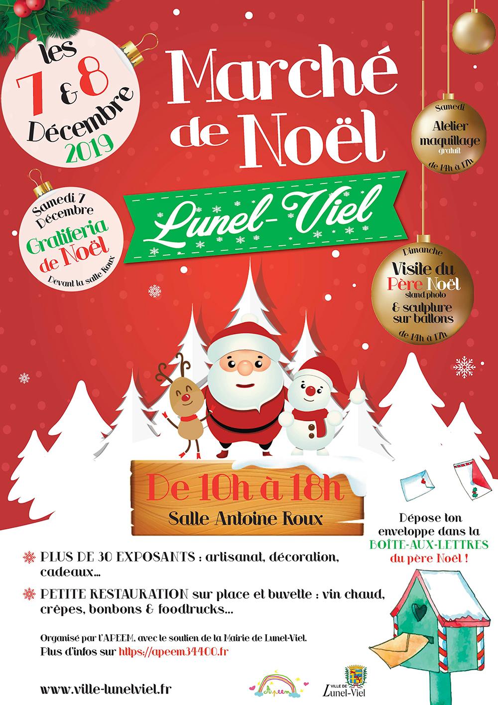 Marché De Noël | Mairie Lunel-Viel intérieur Boite De Noel A Imprimer