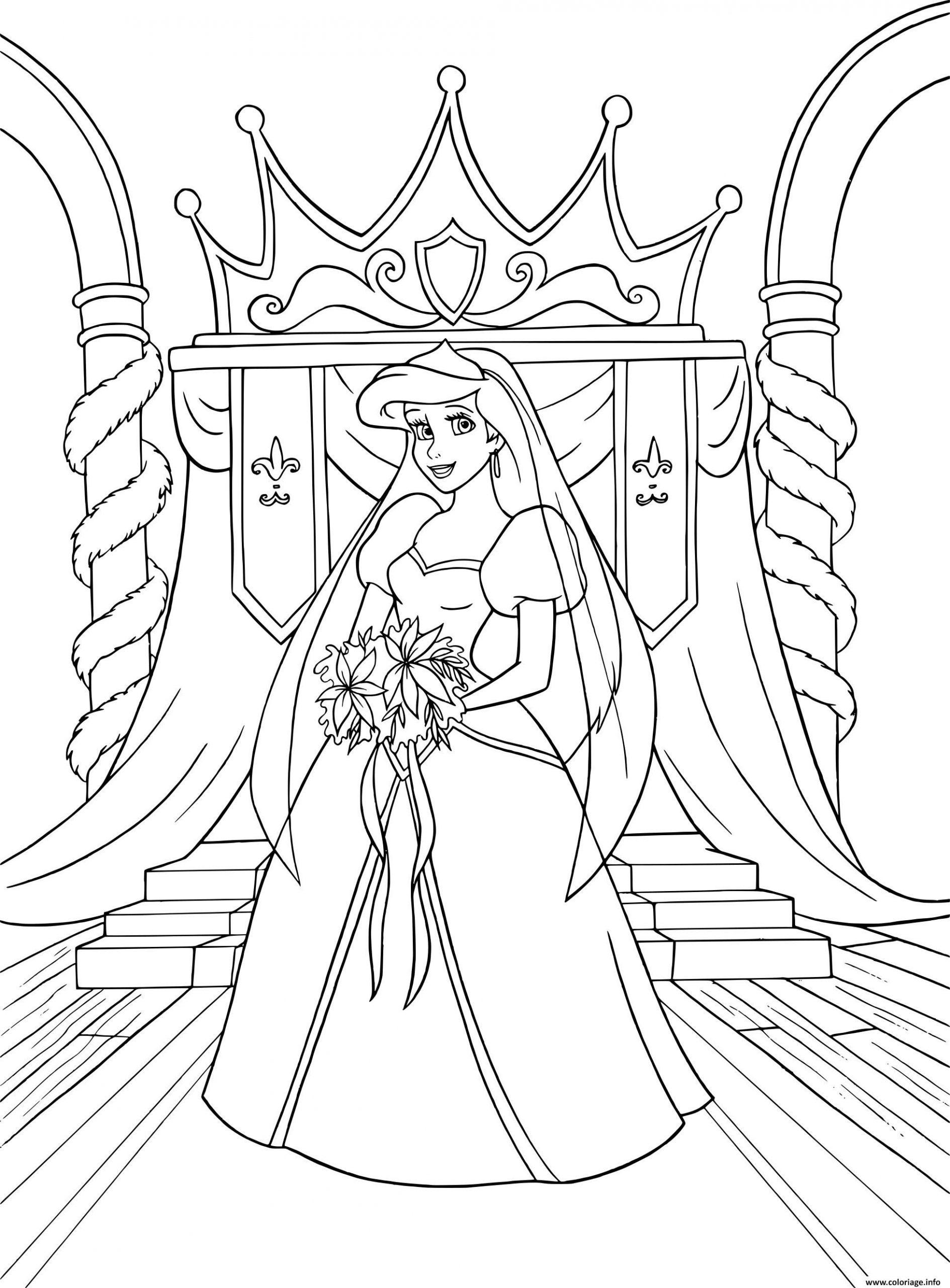 Mariage Élégant: Robe De Mariee Dessin destiné La Petite Sirène À Colorier