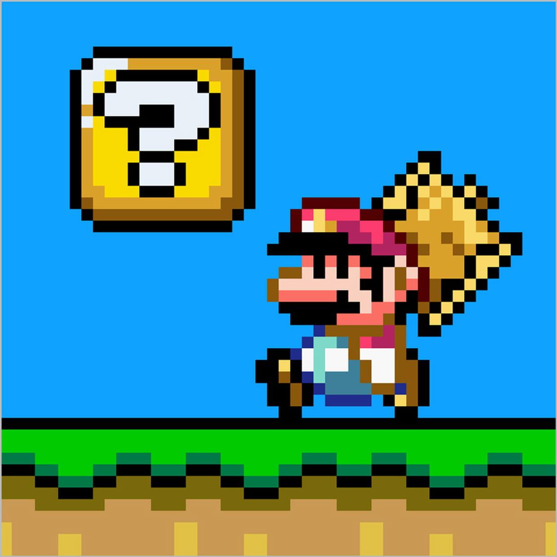 Mario En Pixel Art tout Jeu De Coloriage Pixel