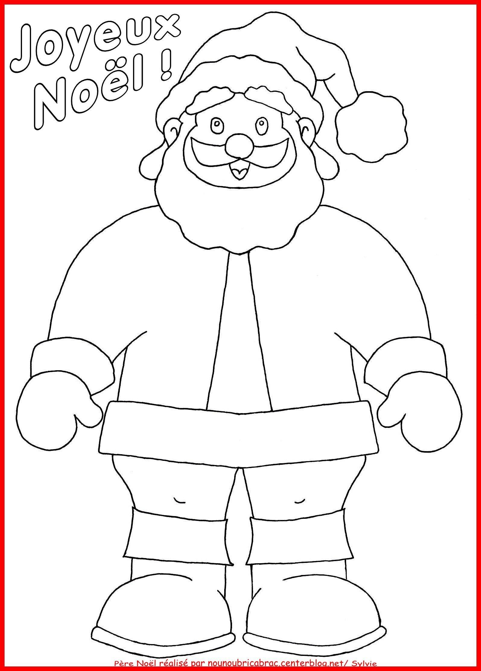 Marionnette Pere Noel dedans Coloriage Pantin