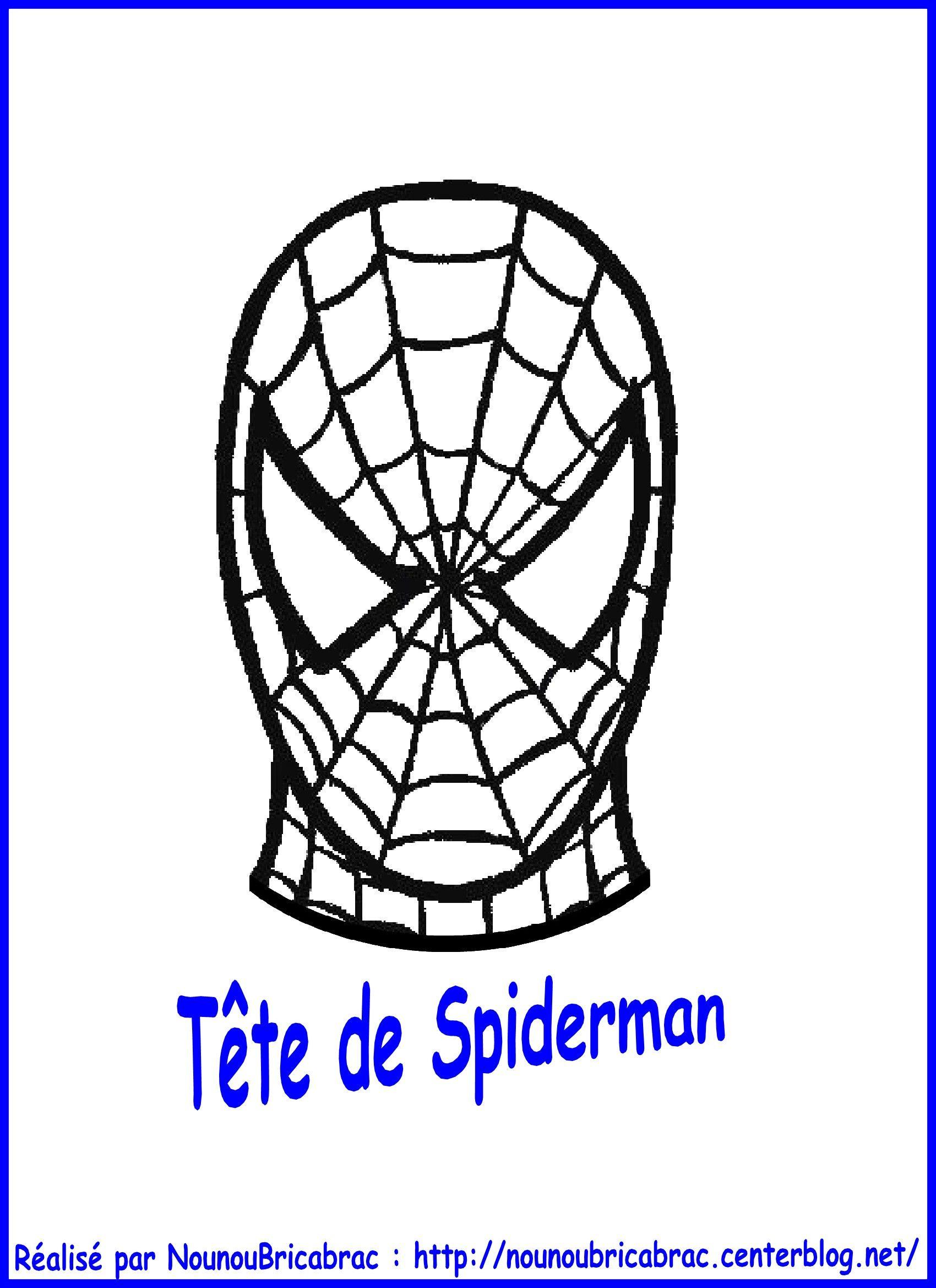 Marionnette Spiderman : Sa Tête tout Tete Spiderman A Imprimer