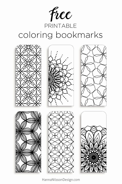 Marque Page À Imprimer Élégant Color Your Own Bookmarks Free destiné Marque Page Gratuit À Imprimer