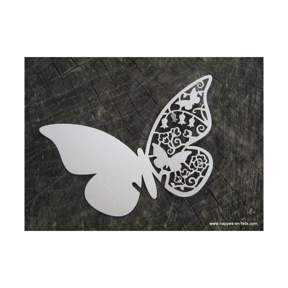Marque Place Papillon Ivoire tout Etiquette Papillon A Imprimer