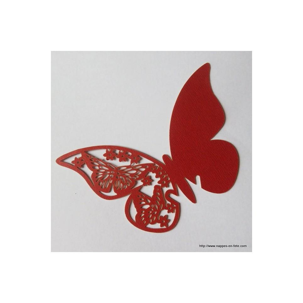Marque Place Papillon, Porte Nom Rouge tout Etiquette Papillon A Imprimer