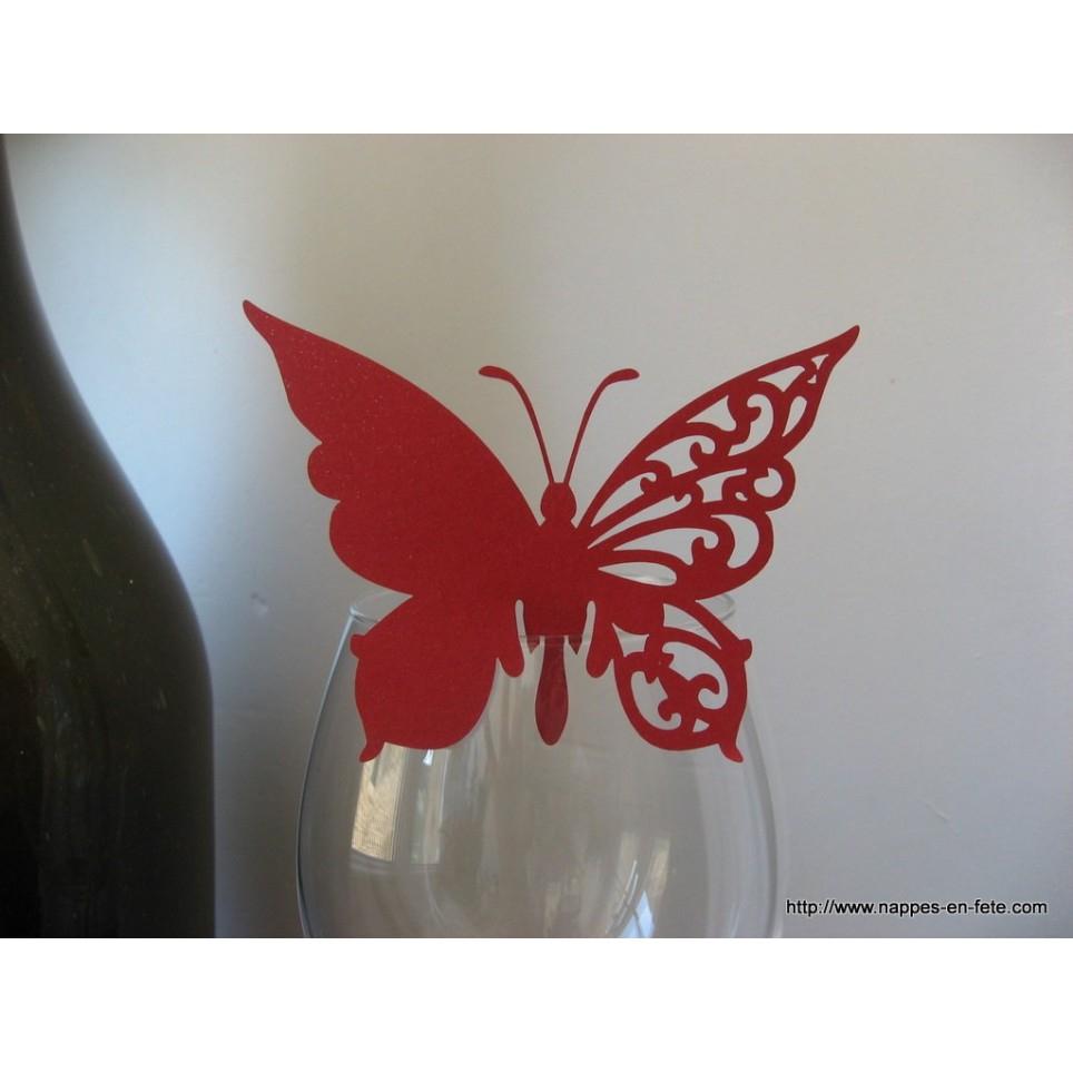 Marque Place Papillon Rouge Pour Verre encequiconcerne Etiquette Papillon A Imprimer