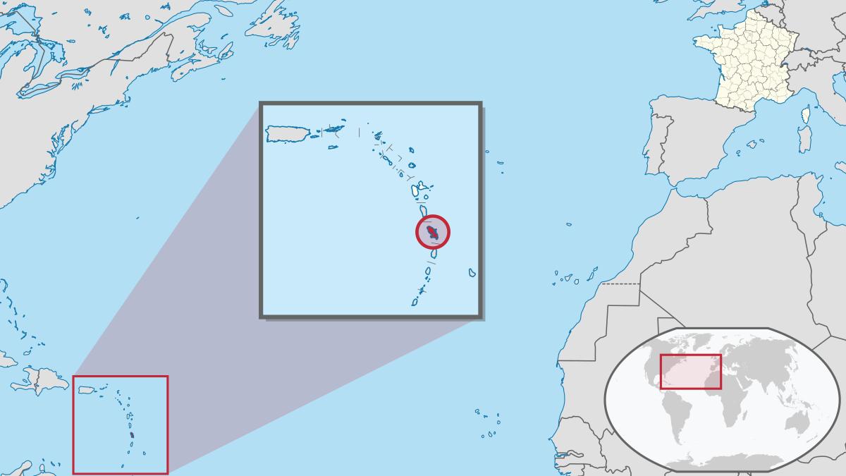 Martinique — Wikipédia tout Département D Outre Mer Carte