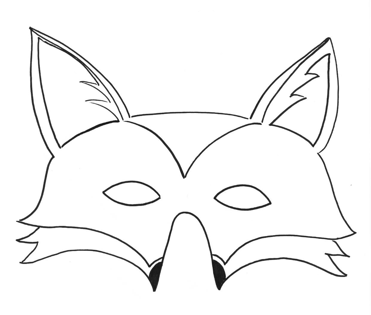 Masque #160 (Objets) – Coloriages À Imprimer serapportantà Masque De Loup À Imprimer