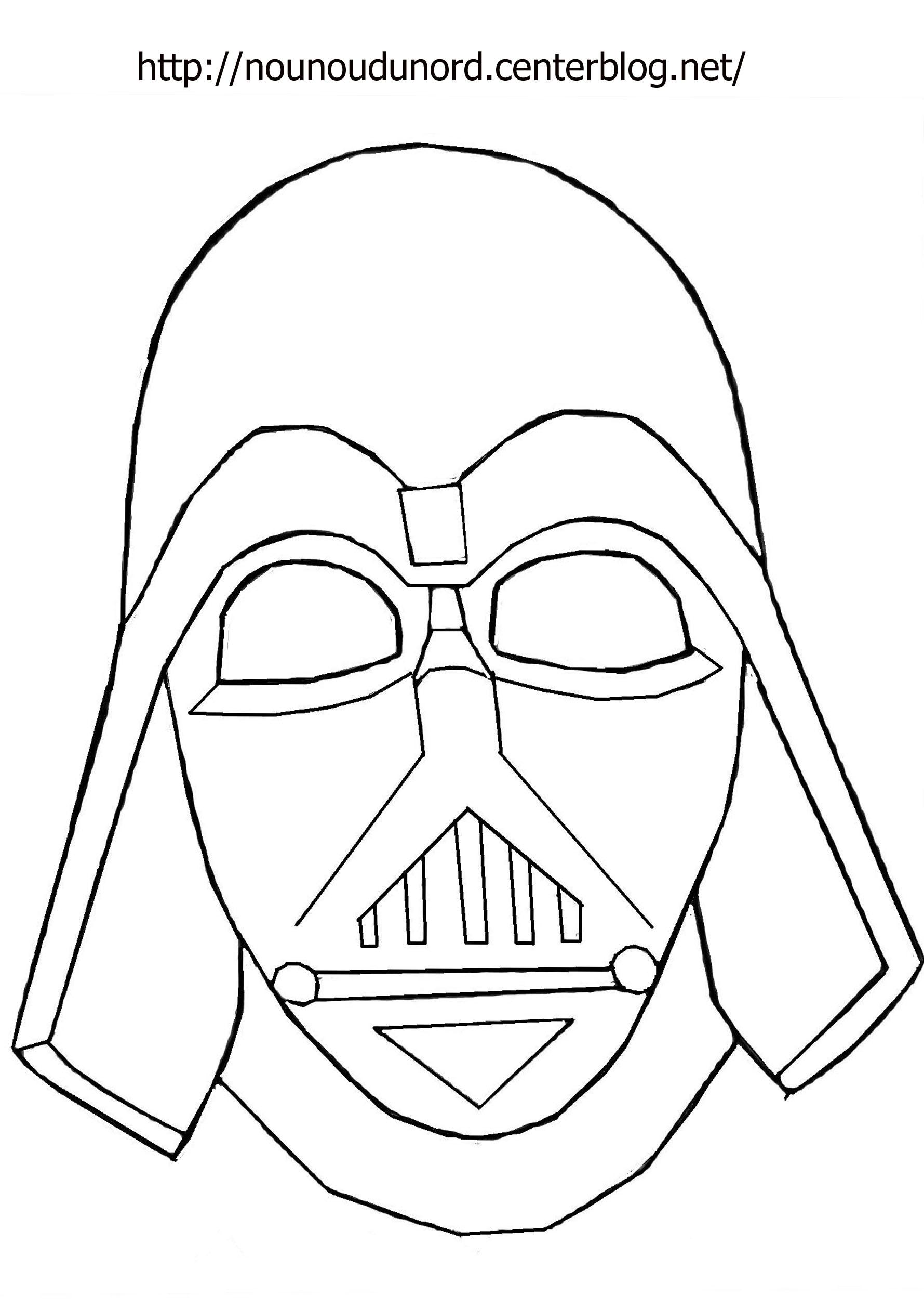 Masque #197 (Objets) – Coloriages À Imprimer intérieur Visage À Colorier
