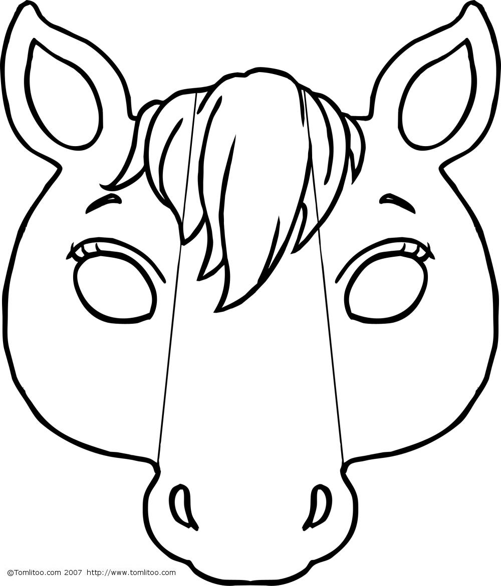 Masque #225 (Objets) – Coloriages À Imprimer destiné Masques Animaux À Imprimer