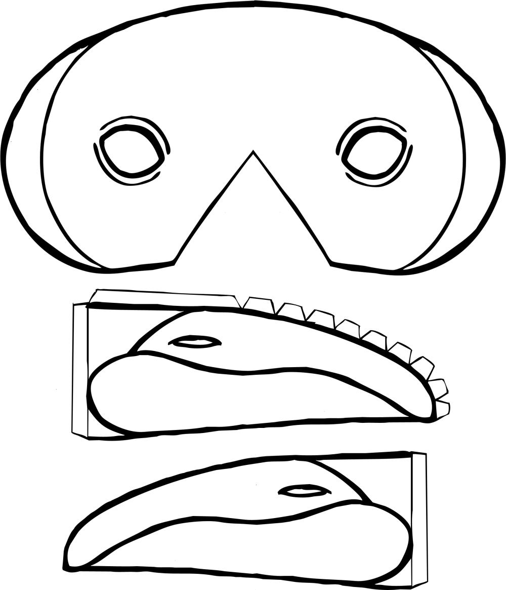 Masque #301 (Objets) – Coloriages À Imprimer serapportantà Masque Papillon À Imprimer