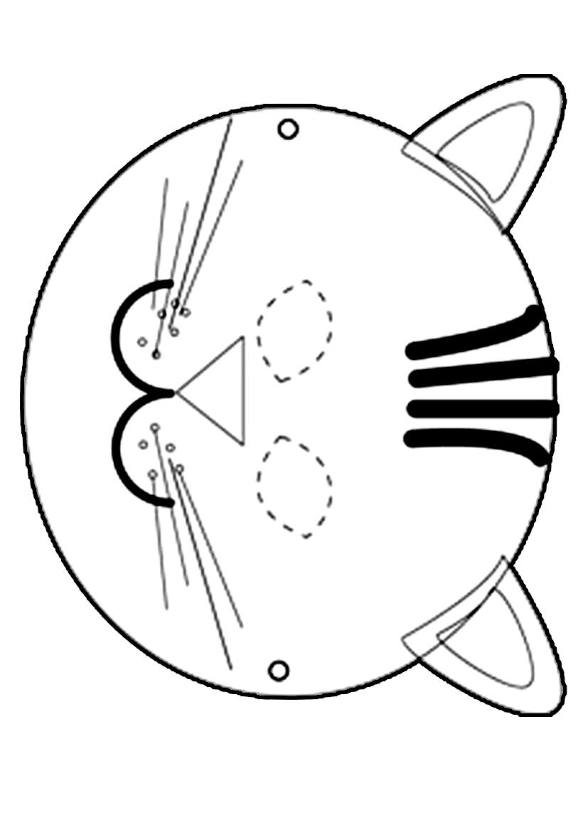 Masque À Imprimer - Arc En Ciel dedans Masque De Loup À Imprimer