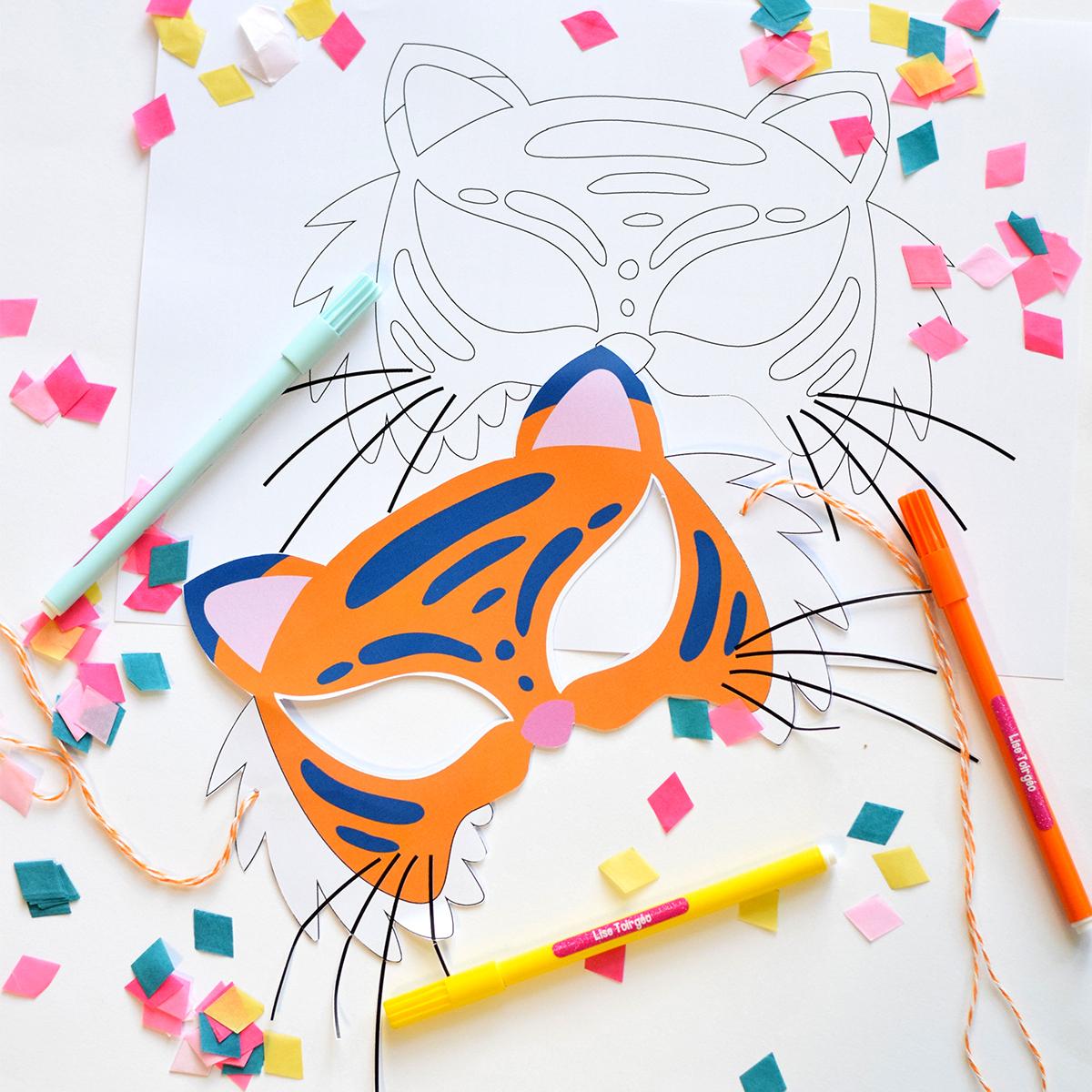 Masque À Imprimer : L'activité Spéciale Carnaval Pour Les tout Decoupage A Imprimer Gratuit