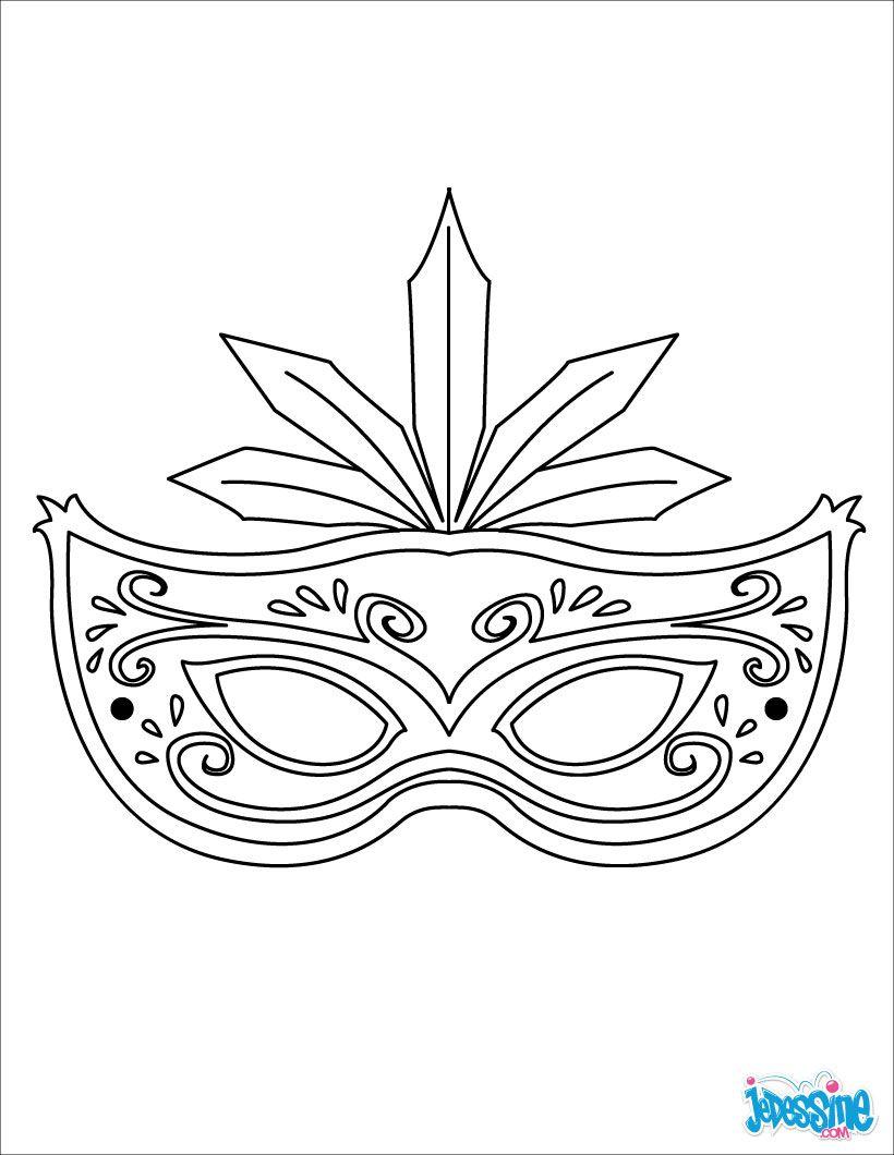 Masque À Imprimer : Masque À Plumes | Coloriage Carnaval concernant Modele Masque De Carnaval A Imprimer