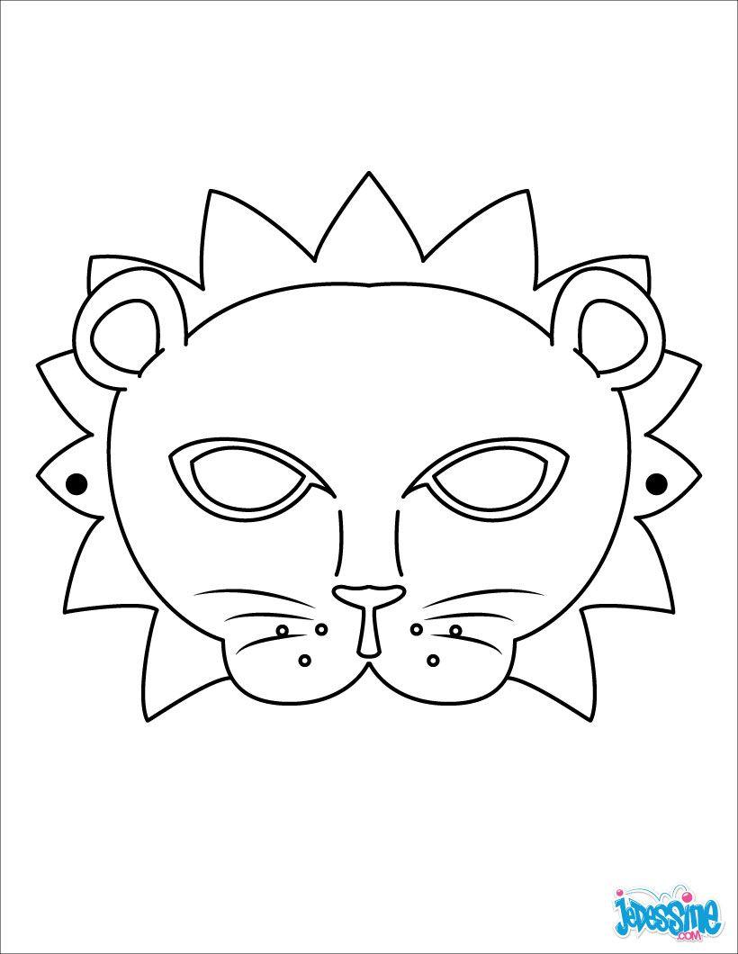Masque À Imprimer : Masque De Lion | Masque Lion, Masque A dedans Masque De Loup À Imprimer