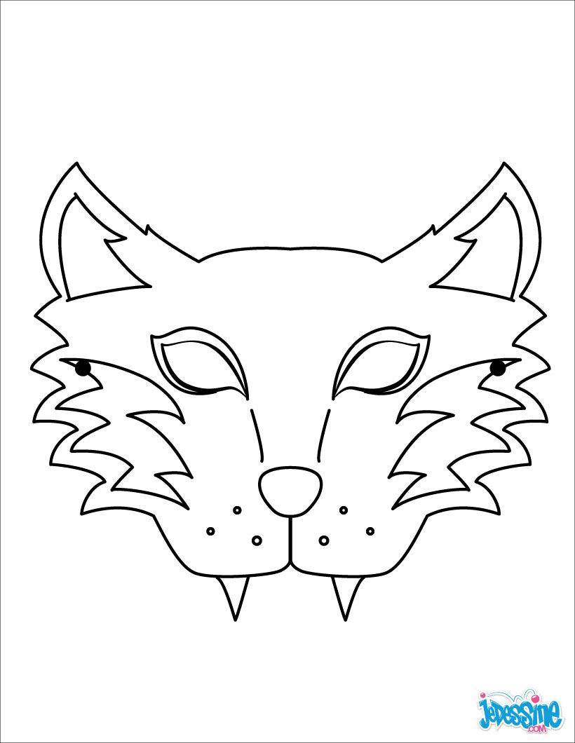 Masque À Imprimer : Masque De Loup | Masque Loup, Masque à Masque À Imprimer Animaux