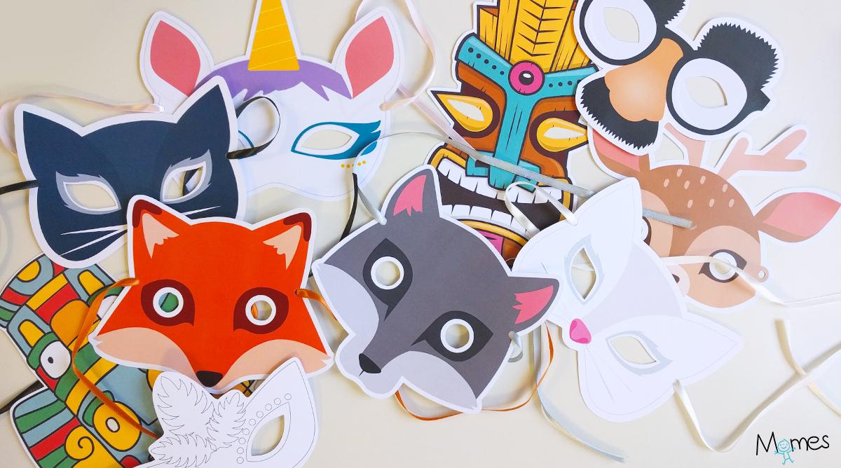 Masque A Imprimer - Momes intérieur Masques Animaux À Imprimer