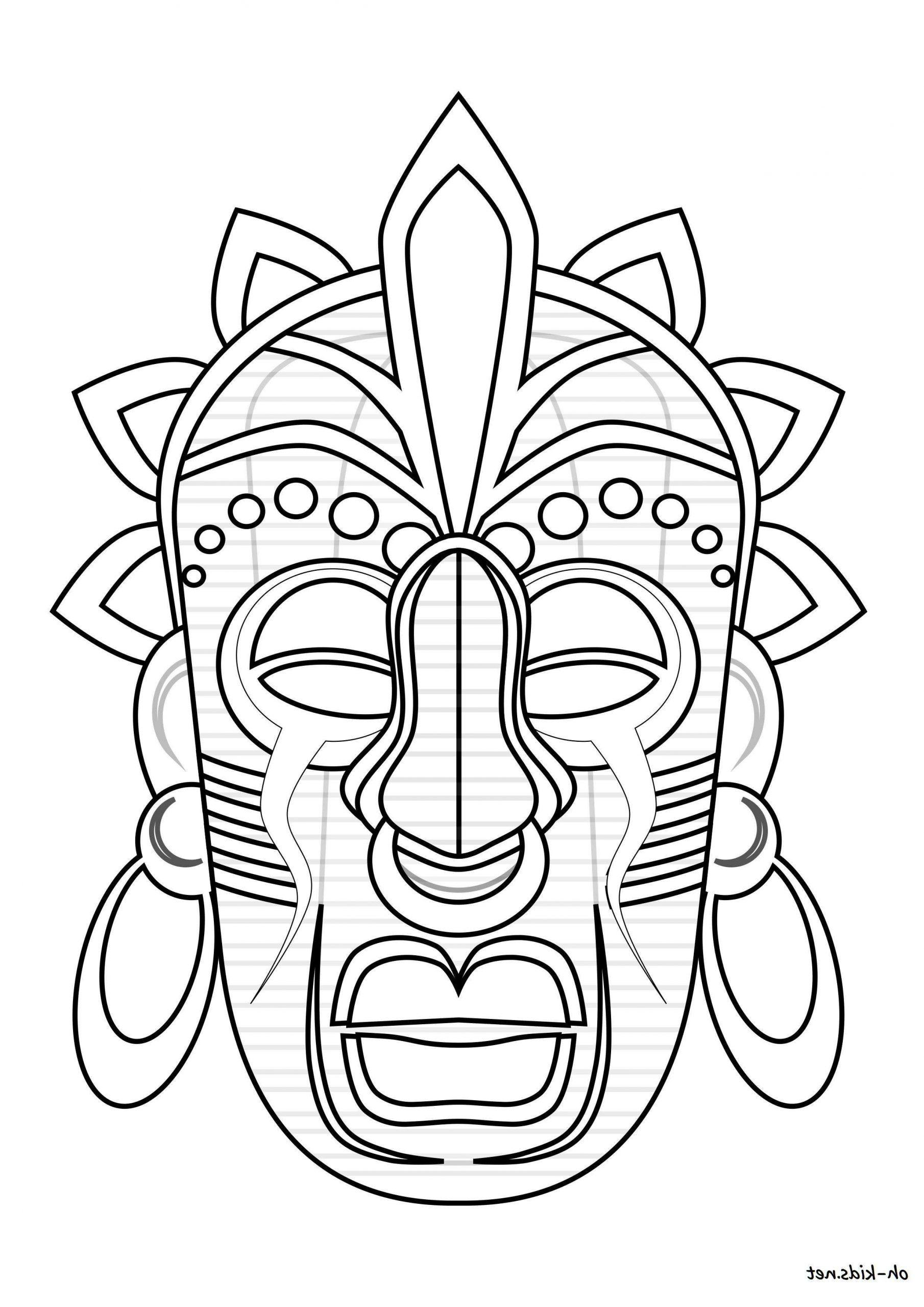 Masque Afrique #coloriageafricain0D En 2020 | Coloriage pour Coloriage Afrique À Imprimer