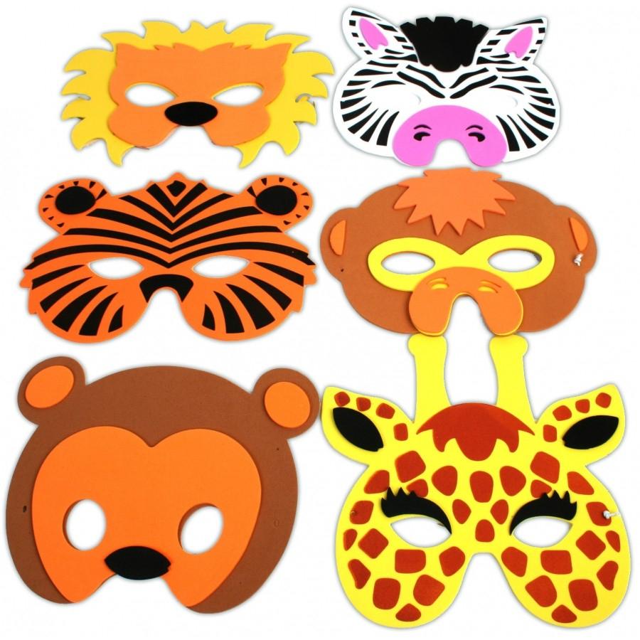 Masque Animaux En Mousse Enfant tout Masques Animaux À Imprimer
