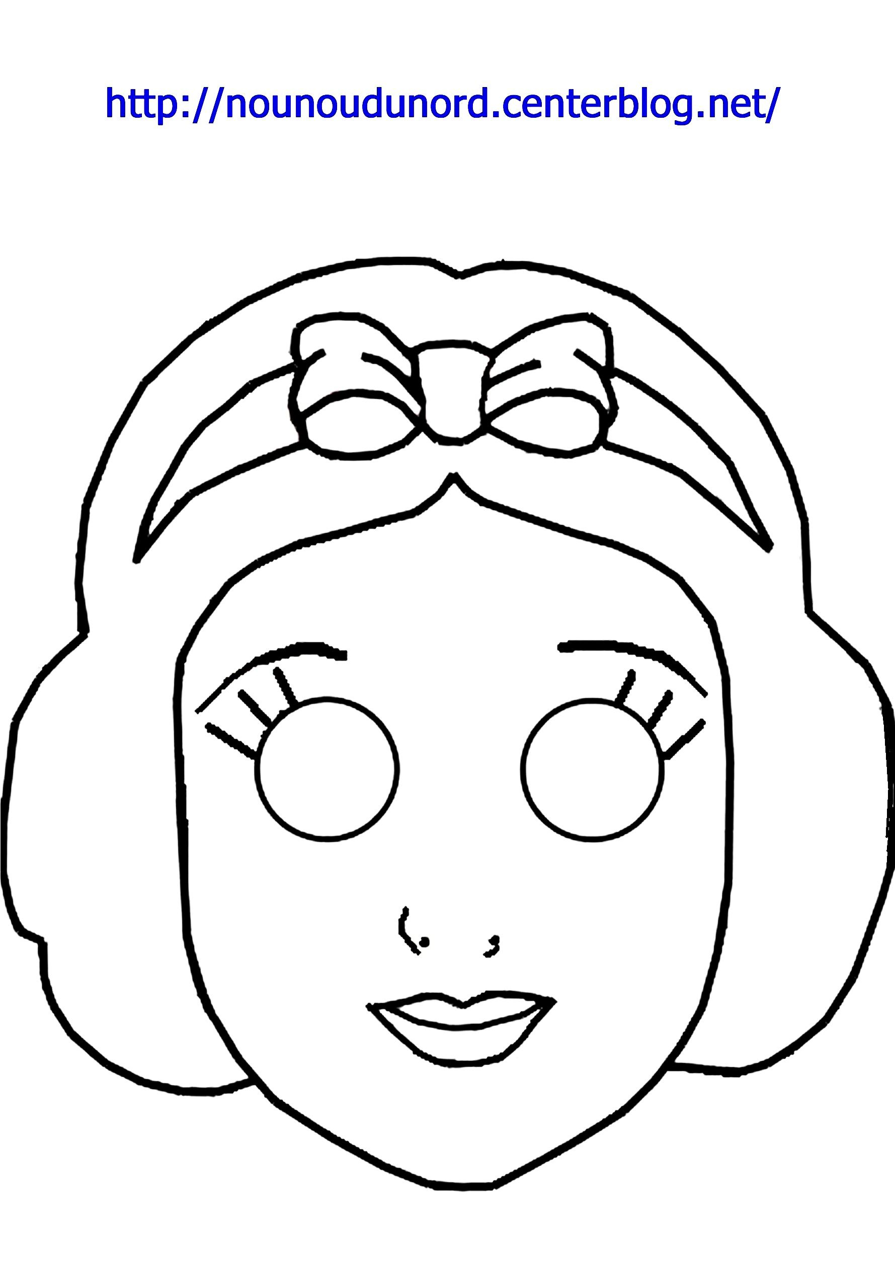 Masque Blanche Neige À Imprimer serapportantà Blanche Neige A Colorier