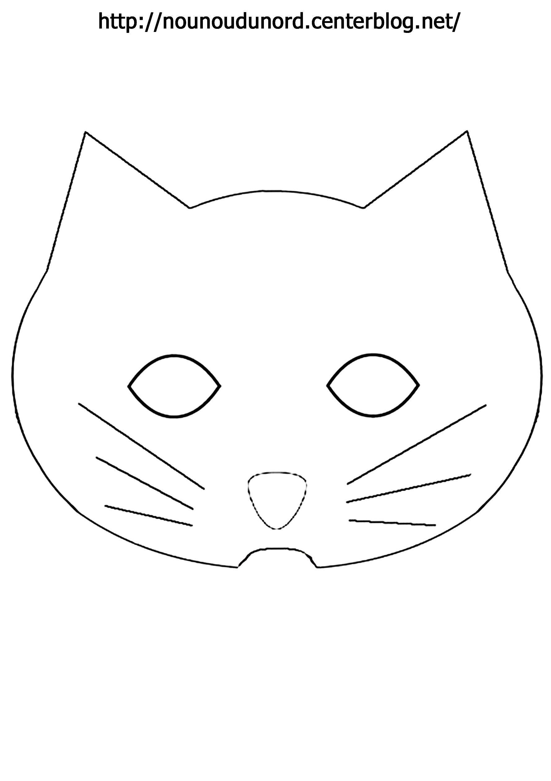 Masque Chat À Imprimer dedans Masques Animaux À Imprimer