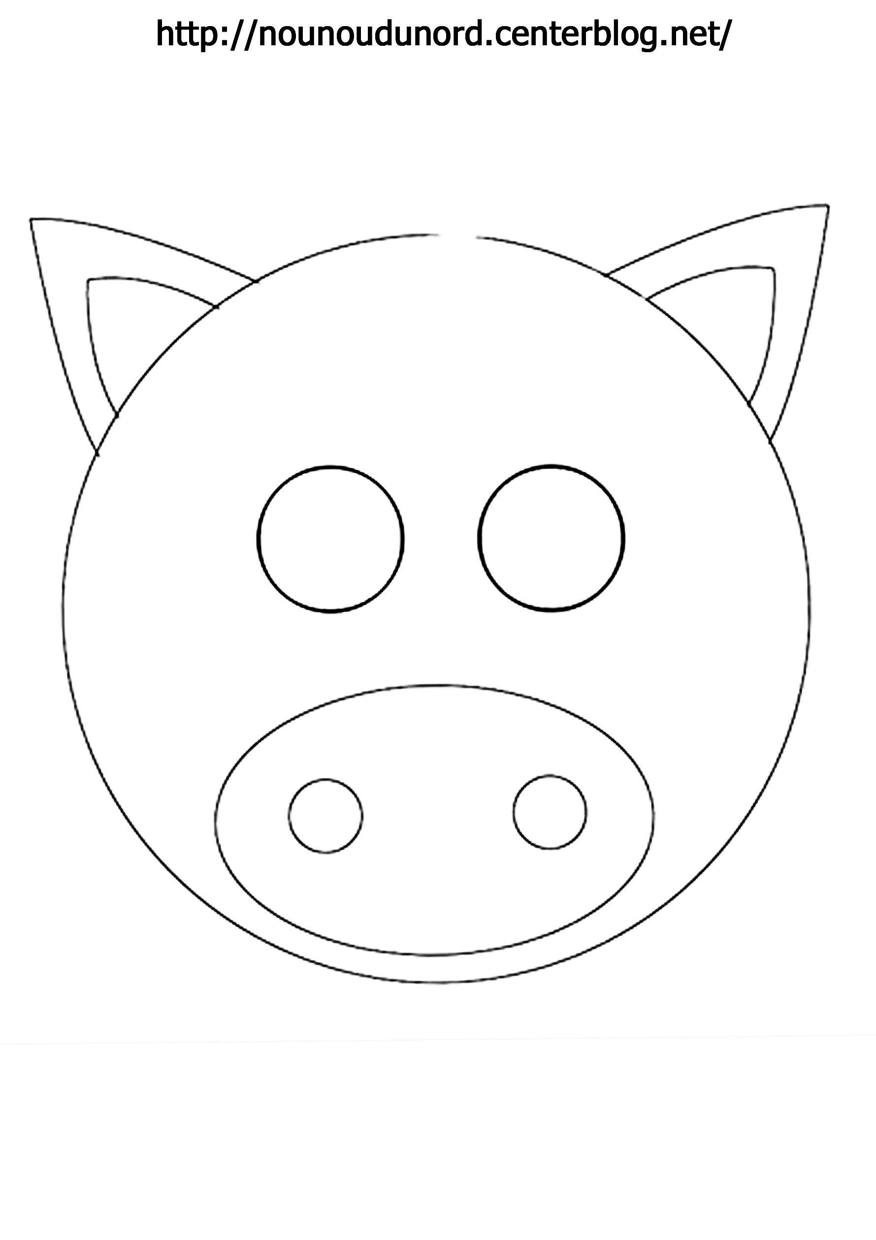 Masque Cochon À Imprimer destiné Découpage Collage Maternelle À Imprimer