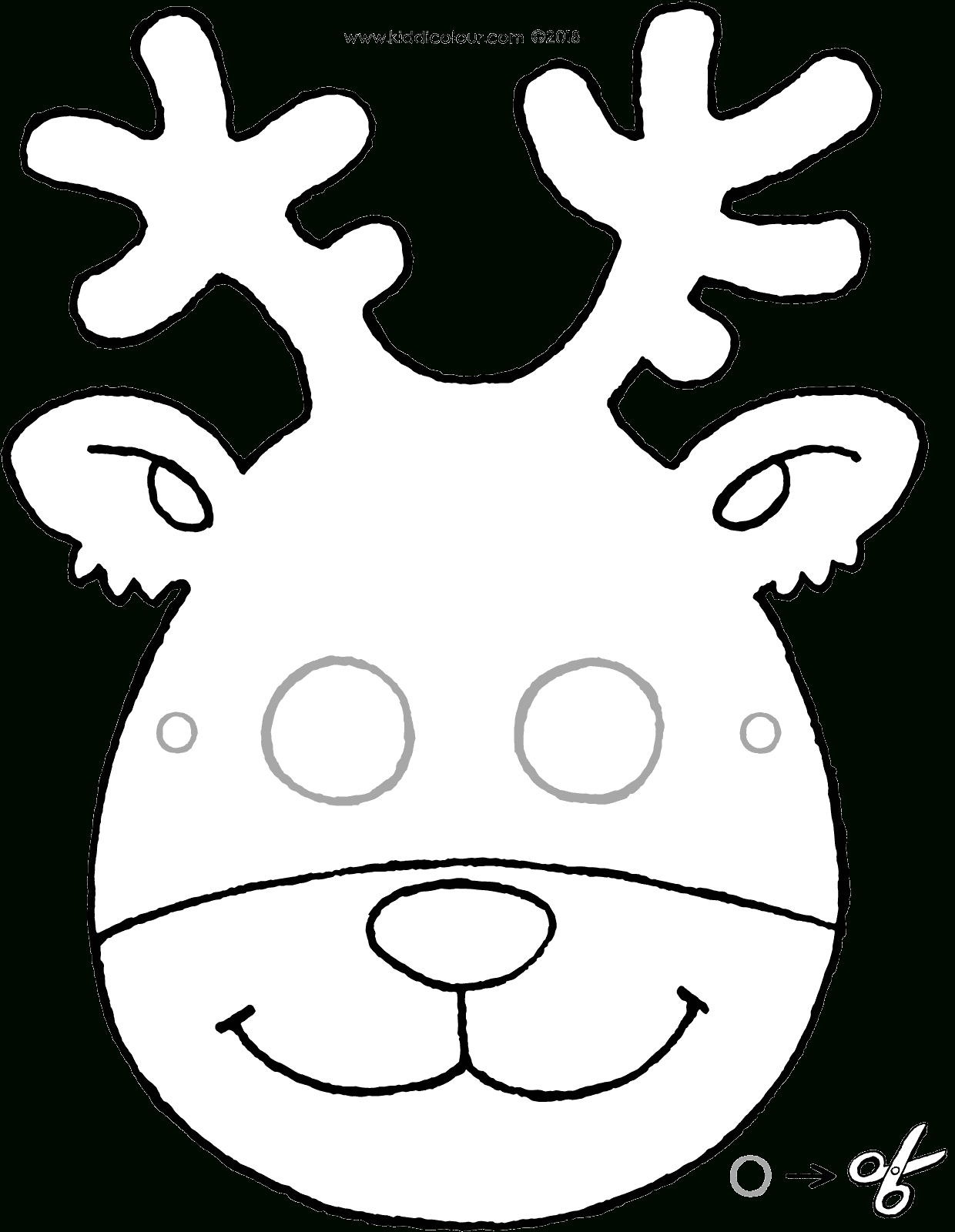Masque De Cerf - Kiddicoloriage tout Masque À Imprimer Animaux