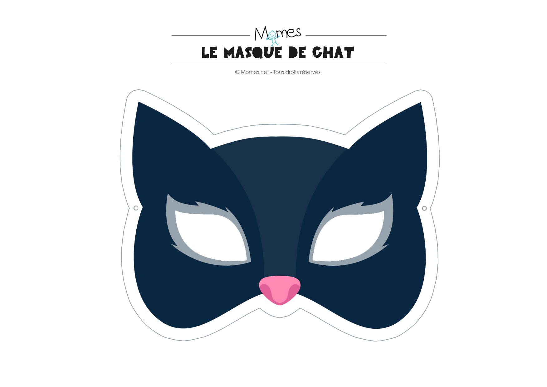 Masque De Chat - Momes serapportantà Masque À Imprimer Animaux
