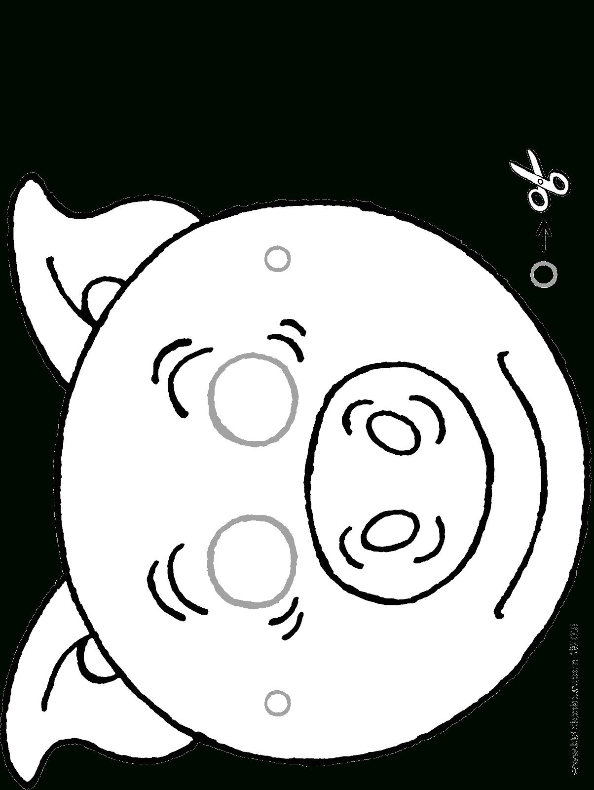 Masque De Cochon - Kiddicoloriage avec Dessin Cochon A Colorier