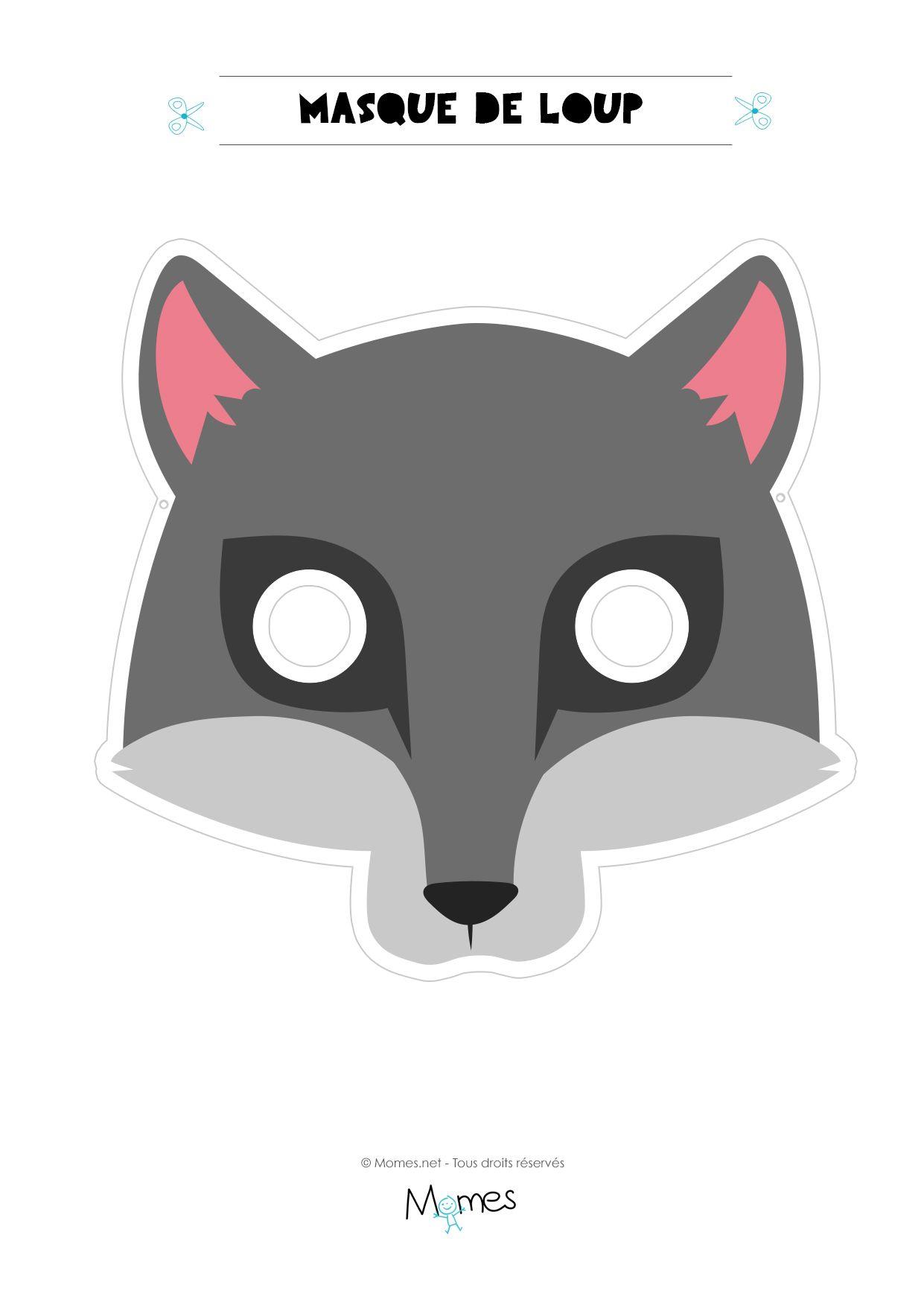 Masque De Loup | Masque Loup, Costume Du Loup Et Masque serapportantà Masque Loup A Colorier