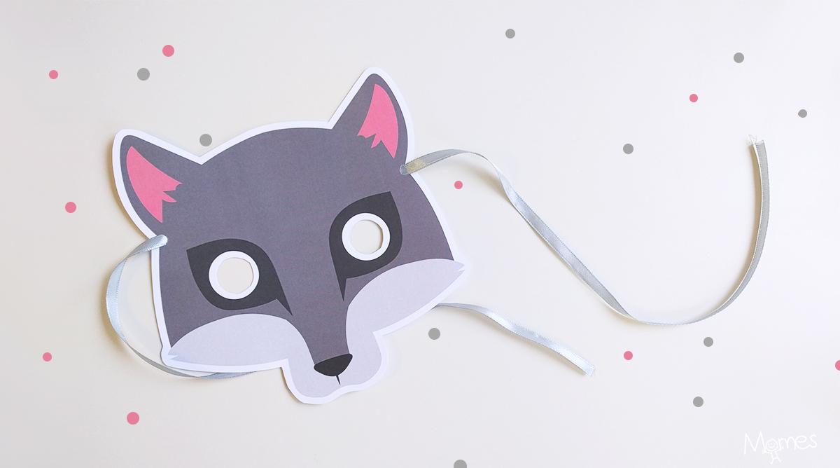 Masque De Loup - Momes intérieur Masque De Loup À Imprimer