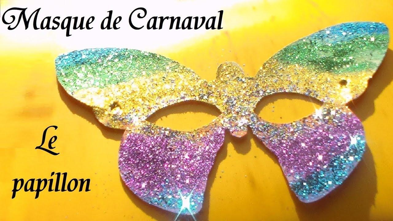 Masque De Papillon : Fabrication Masque D'Animaux Pour Carnaval destiné Masque Papillon À Imprimer