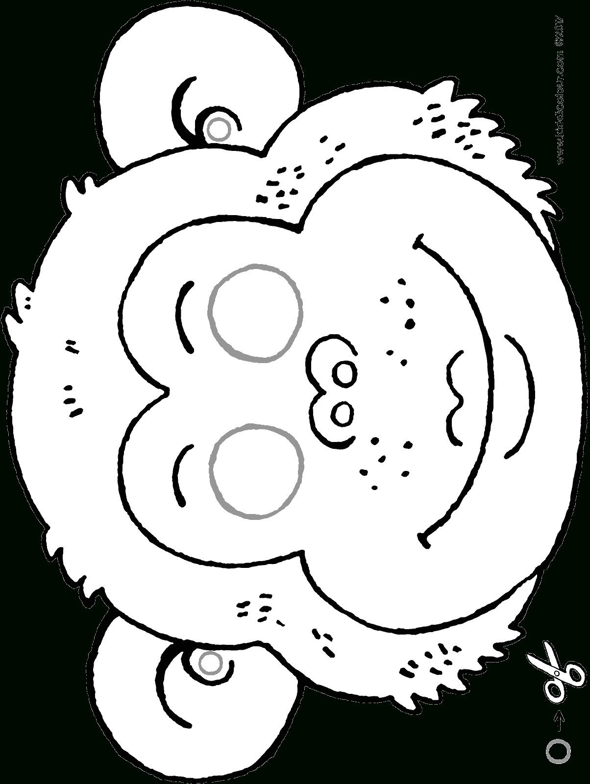 Masque De Singe - Kiddicoloriage destiné Masques Animaux À Imprimer