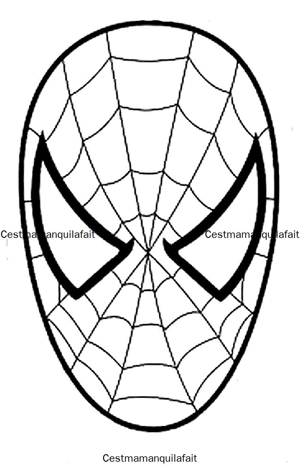 Masque De Spiderman … | Coloriage Spiderman, Spiderman concernant Tete Spiderman A Imprimer