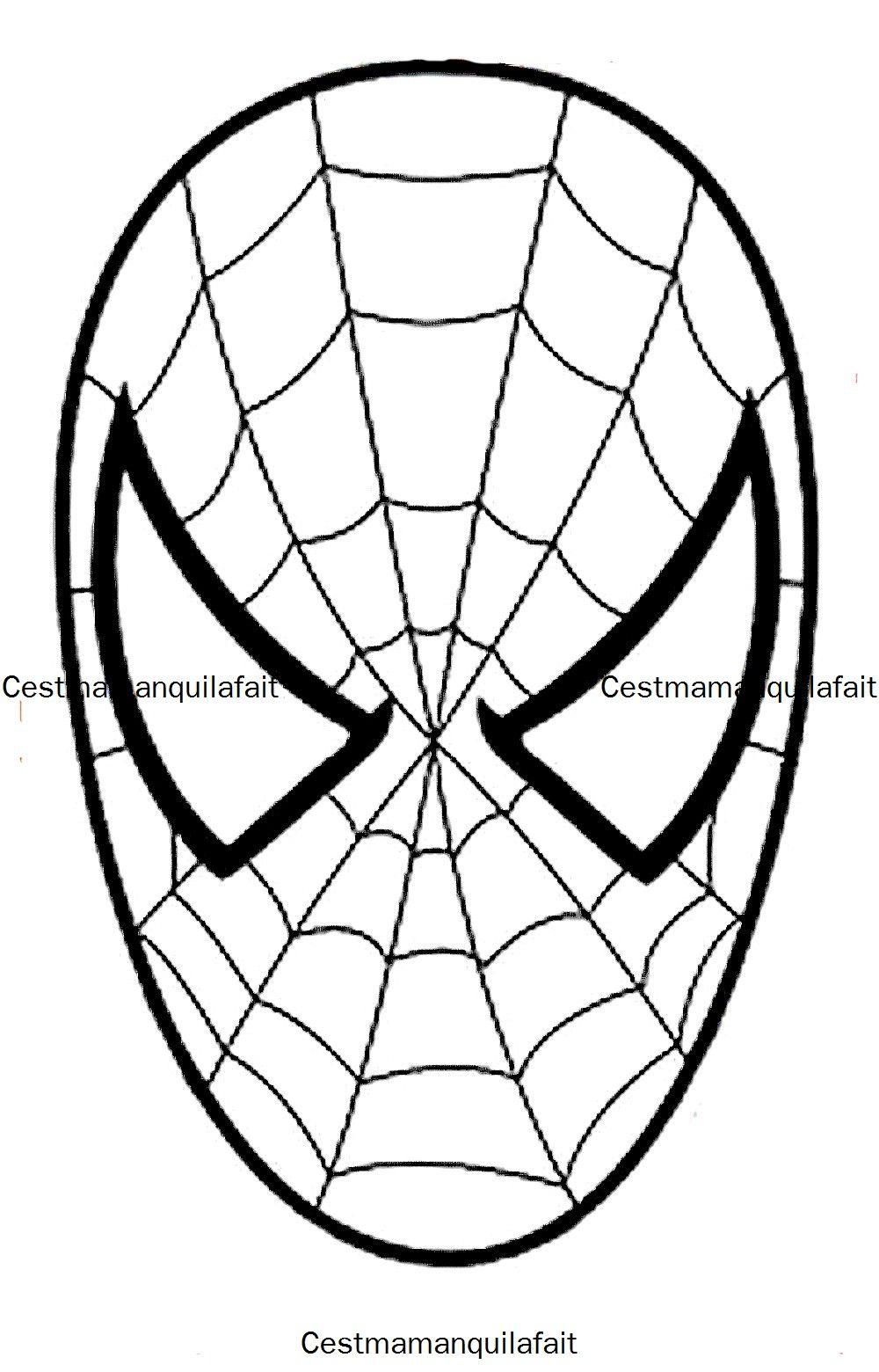 Masque De Spiderman …   Süsleme Party   Maske… avec Masque Spiderman A Imprimer