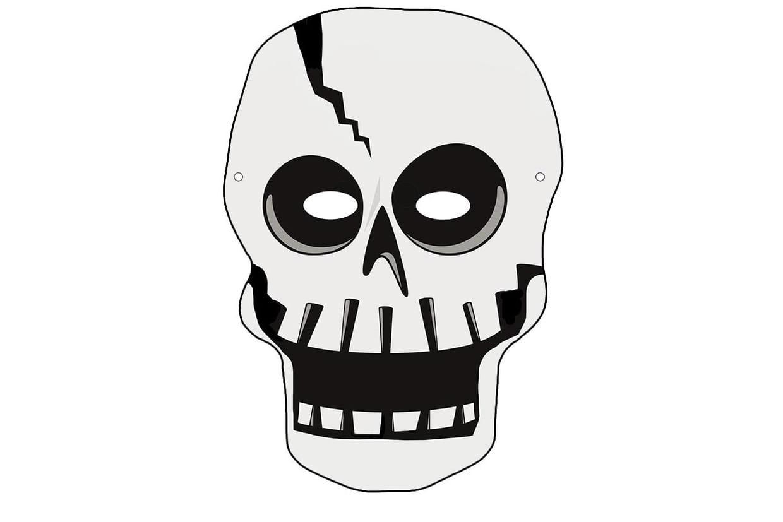 Masque De Squelette Pour Halloween tout Masque De Loup À Imprimer