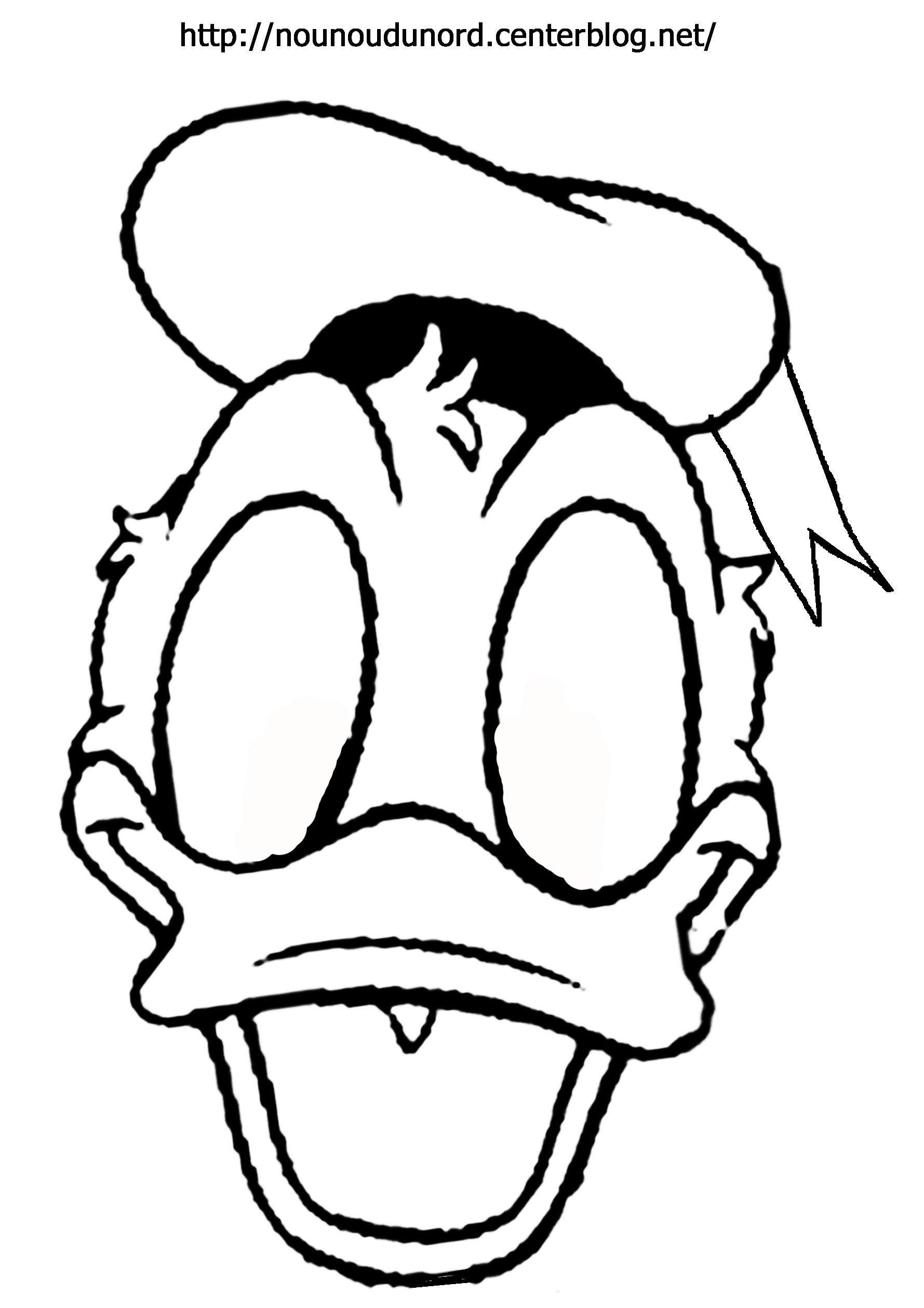 Masque Donald À Imprimer intérieur Masque À Imprimer Animaux