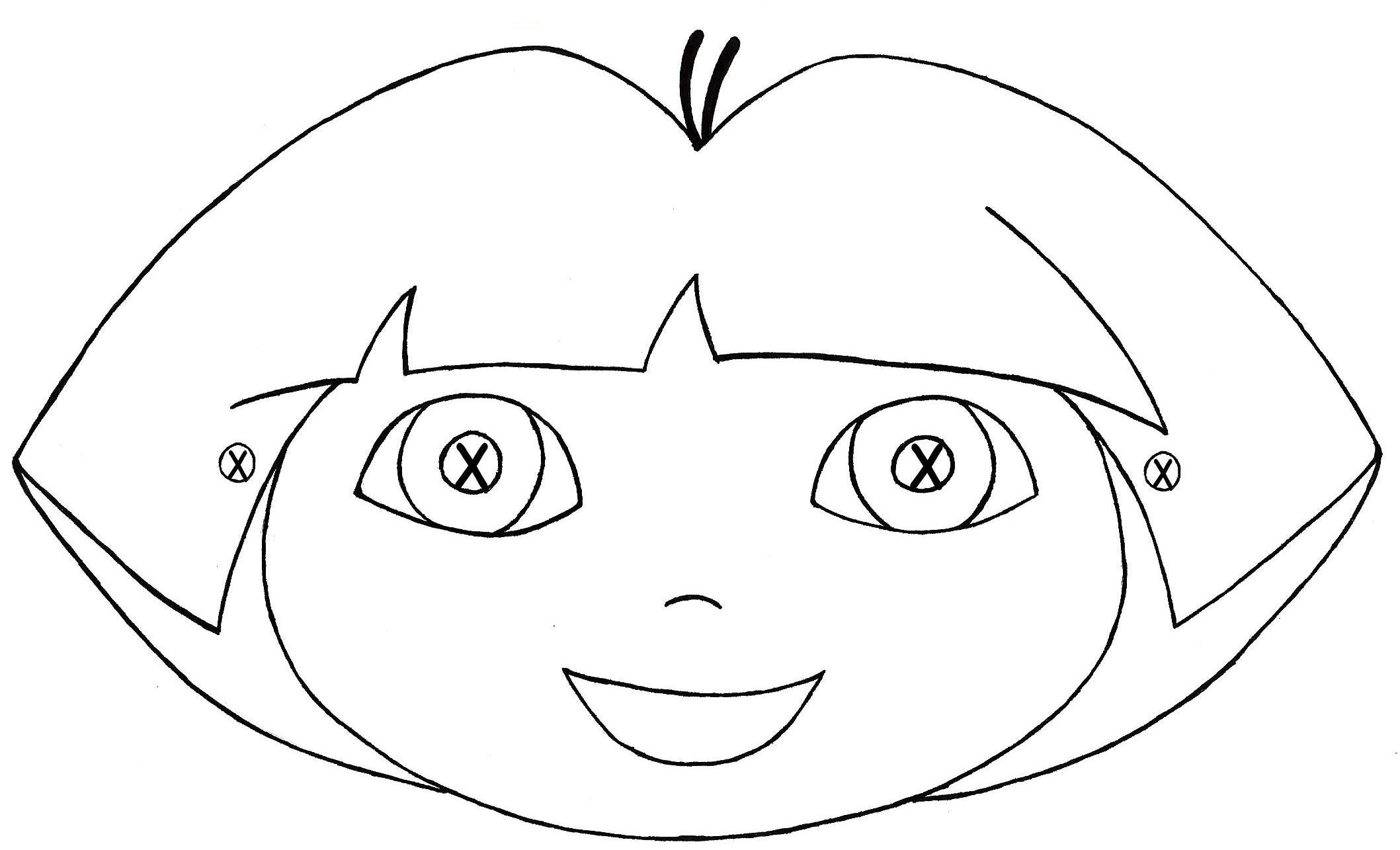 Masque Dora Découpage A Imprimer encequiconcerne Decoupage A Imprimer