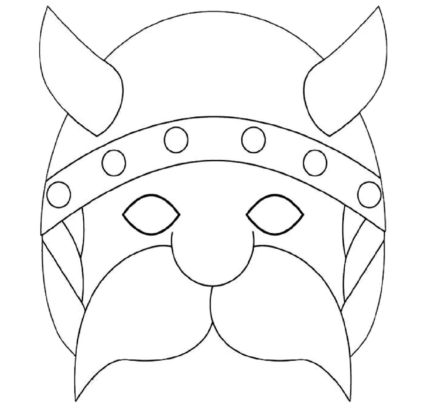 Masque Gaulois A Colorier Découpage A Imprimer intérieur Masque Enfant A Colorier
