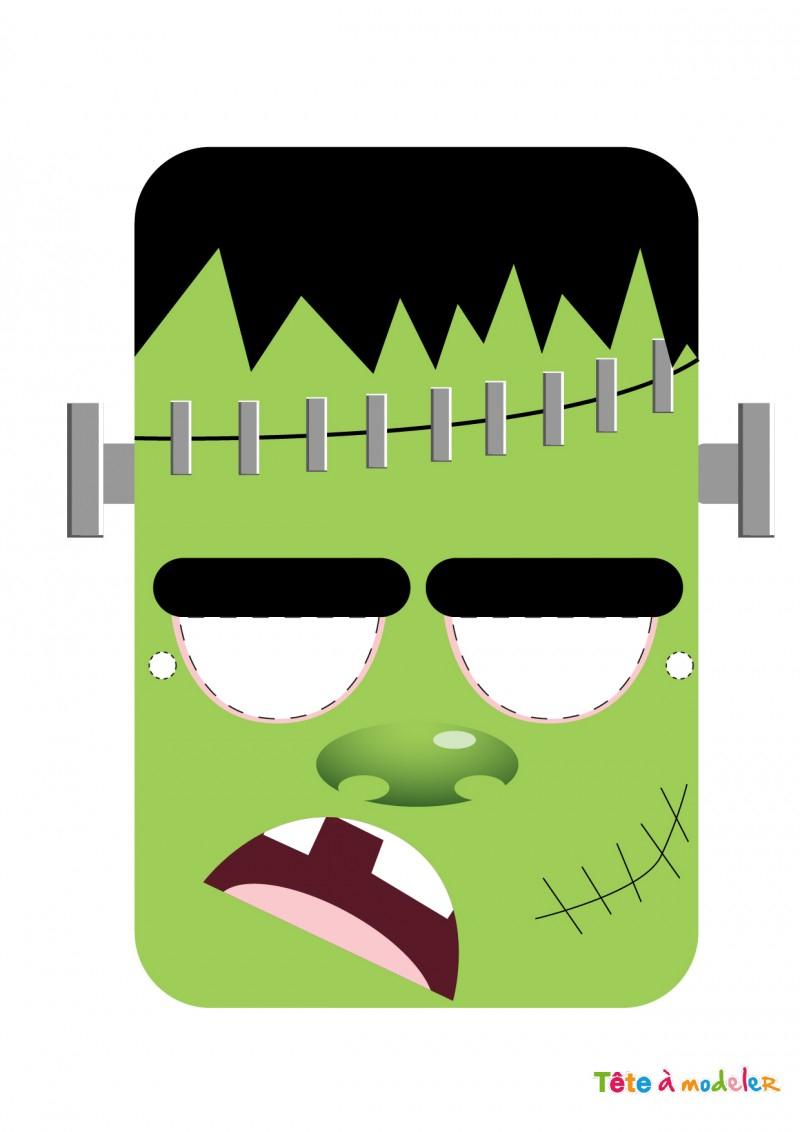 Masque Halloween À Imprimer Gratuitement Avec Tête À Modeler dedans Masque De Loup À Imprimer
