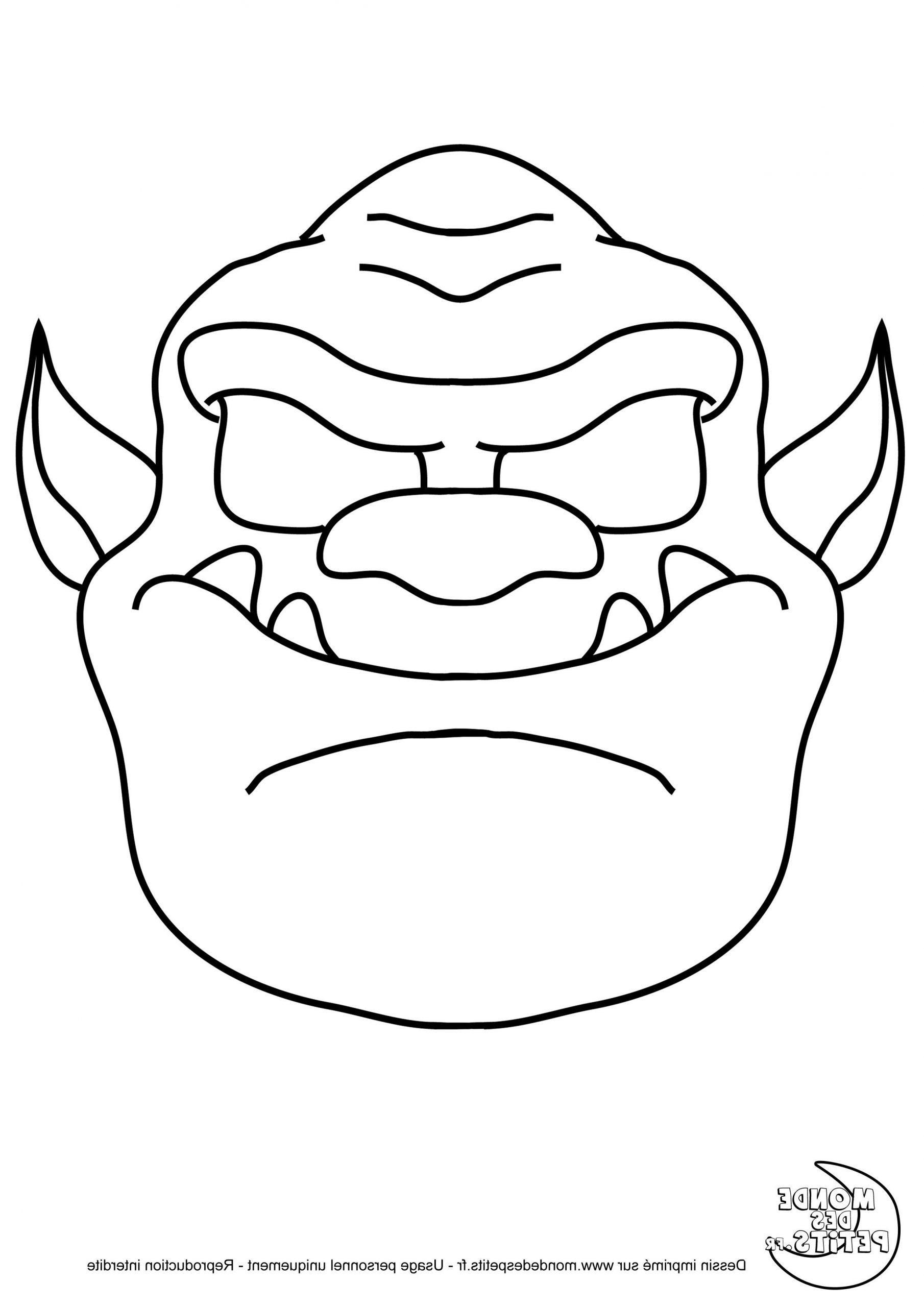 Masque Halloween Coloriage . 12 Vivant Masque Halloween pour Masque Loup A Colorier