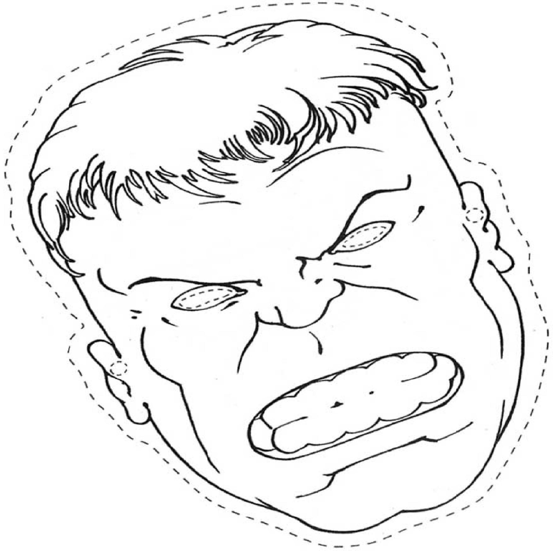 Masque Hulk A Colorier Découpage A Imprimer destiné Dessin À Découper