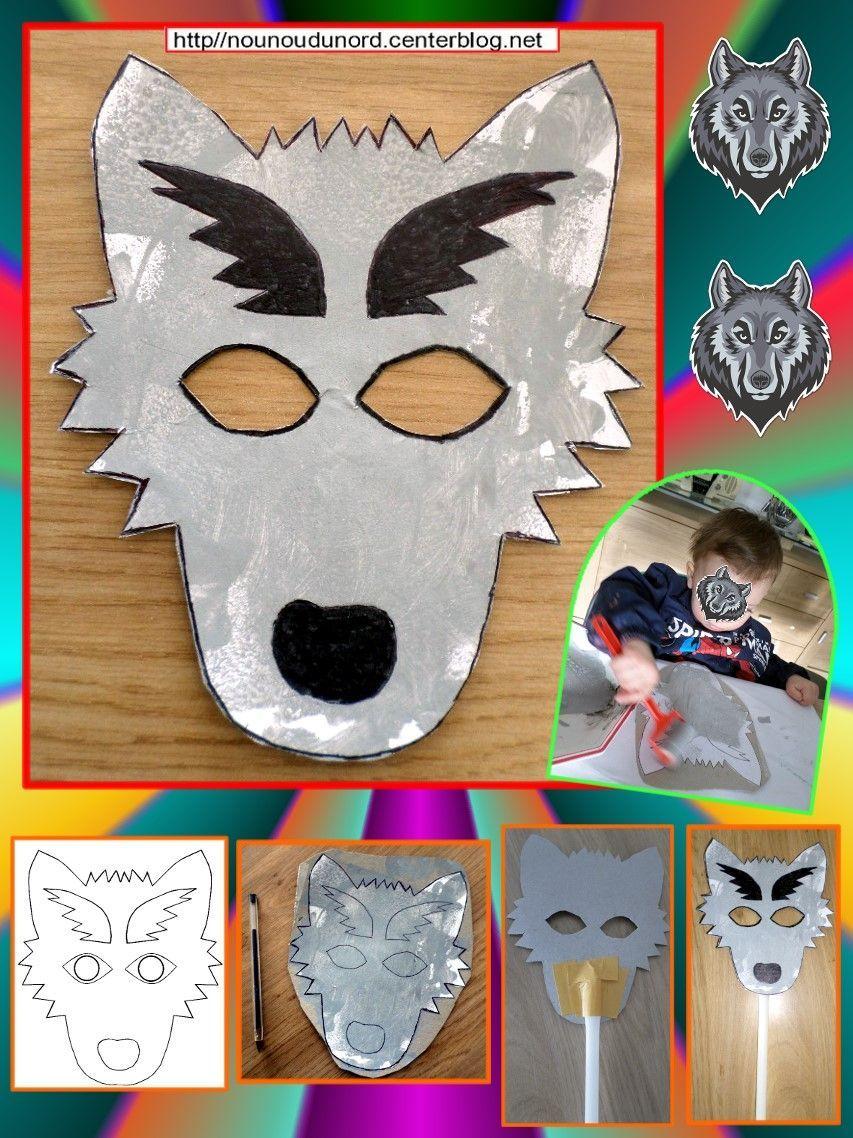 Masque Loup Réalisé Par Théodore Pour Le Carnaval dedans Masque De Loup À Imprimer