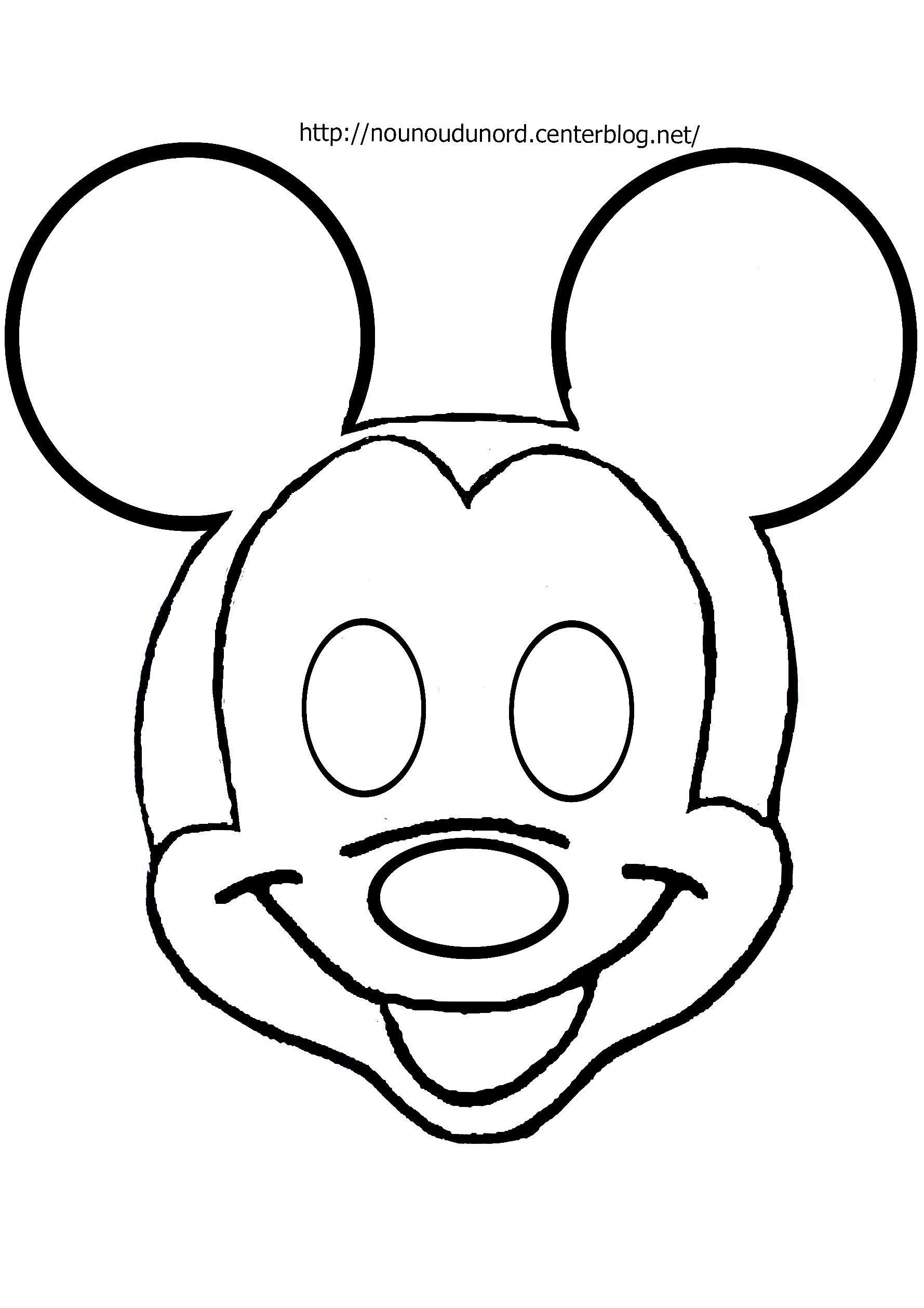 Masque Mickey À Imprimer avec Masque Enfant A Colorier