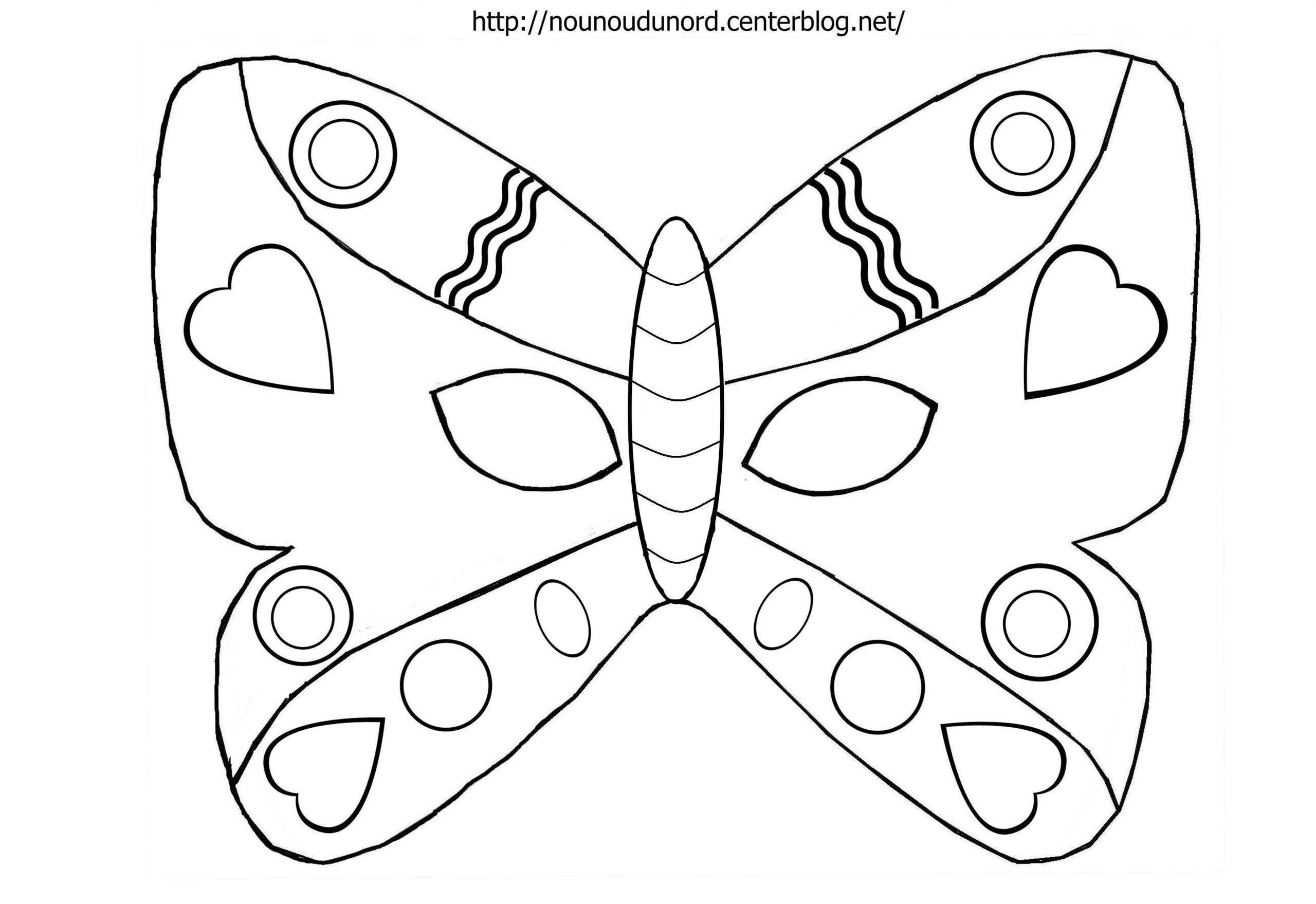 Masque Papillon À Colorier intérieur Masques Animaux À Imprimer